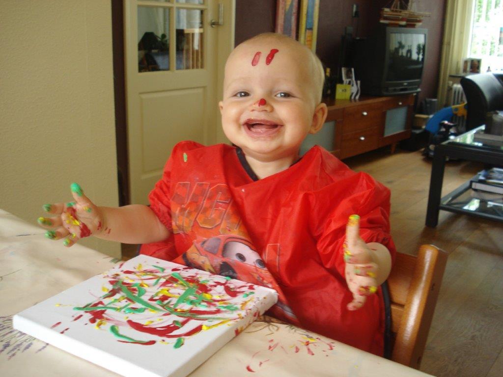 Robin schilderen